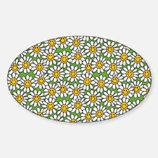 Smiley Daisy Flowers Pattern Decal