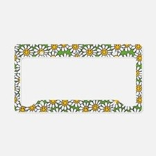 Smiley Daisy Flowers Pattern License Plate Holder