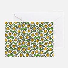 Smiley Daisy Flowers Pattern Greeting Card