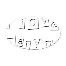 I Love Taryn Oval Car Magnet