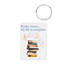 Books and music Keychains
