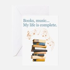 Books and music Greeting Card