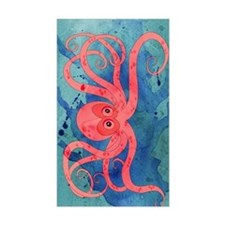 Pink Octopus Decal