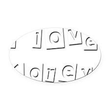 I Love Korey Oval Car Magnet