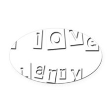 I Love Larry Oval Car Magnet