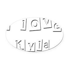 I Love Kyla Oval Car Magnet