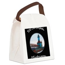North Pier , St. Joseph Michigan Canvas Lunch Bag