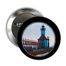 """North Pier , St. Joseph Michigan 2.25"""" Button"""