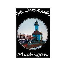 North Pier , St. Joseph Michigan Rectangle Magnet