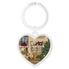 ornament Heart Keychain