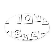I Love Keven Oval Car Magnet