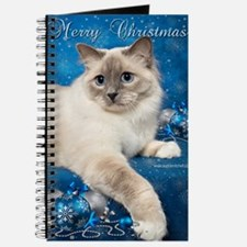 Birman Cat Christmas Card Journal