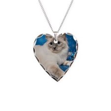Birman Cat Christmas Card Necklace