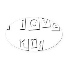 I Love Kri Oval Car Magnet