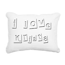 I Love Krista Rectangular Canvas Pillow