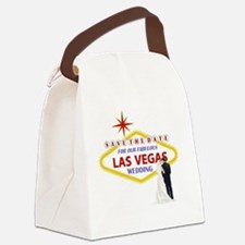 Save the Date For Our Las Vegas W Canvas Lunch Bag