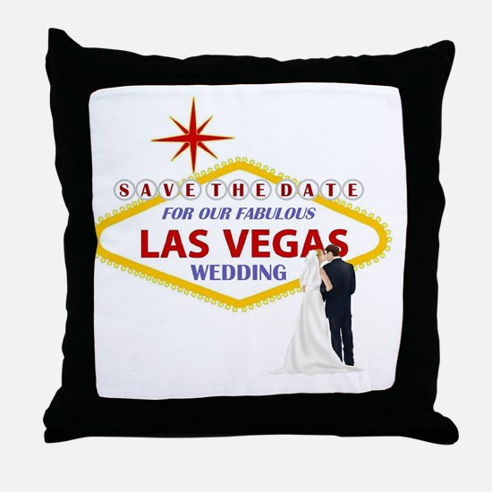Save the Date For Our Las Vegas Weddi Throw Pillow