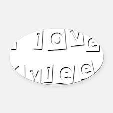 I Love Kylee Oval Car Magnet