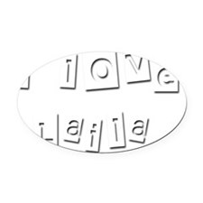 I Love Laila Oval Car Magnet