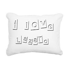 I Love Lazaro Rectangular Canvas Pillow