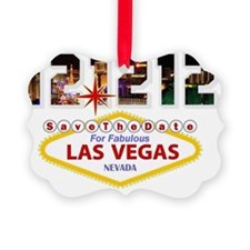 Save the Date For Las Vegas 12 12 Ornament
