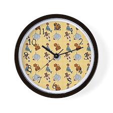 Circus Animals Wall Clock