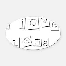 I Love Lena Oval Car Magnet