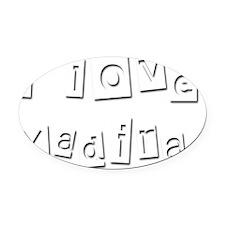 I Love Yadira Oval Car Magnet
