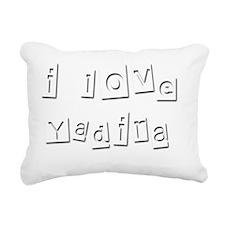 I Love Yadira Rectangular Canvas Pillow