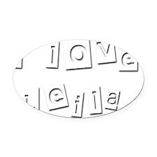 I Love Leila Oval Car Magnet