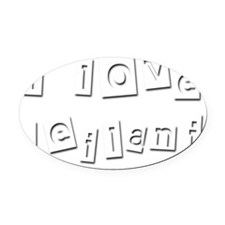 I Love Leilani Oval Car Magnet