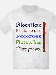 Multilingual Recorder T-Shirt