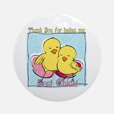 Best Friend Easter Ornament (Round)