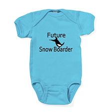 Future Snow Boarder Baby Bodysuit