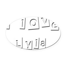 I Love Lyla Oval Car Magnet