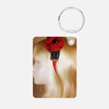 Burlesque Red Flower Red/B Keychains