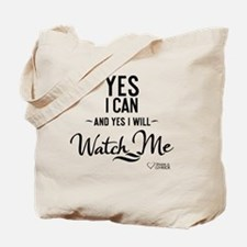 tshirt black transparent Yes I can and ye Tote Bag