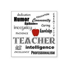 "Teacher Pride Square Sticker 3"" x 3"""