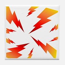 FSW lightning bolt BACK Tile Coaster