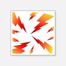 "FSW lightning bolt BACK Square Sticker 3"" x 3"""