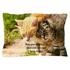 Head bumps for the holidays Pillow Case
