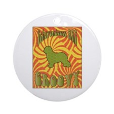 Groovy Schapendoes Ornament (Round)