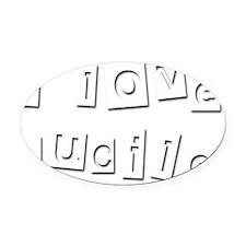 I Love Lucile Oval Car Magnet