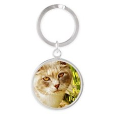 Will love for food Round Keychain