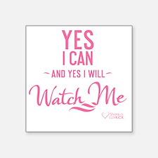 "tshirt pink transparent Yes Square Sticker 3"" x 3"""
