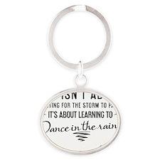 tshirt black transparent Life isnt a Oval Keychain