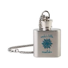 Uncles Little Snowflake Flask Necklace