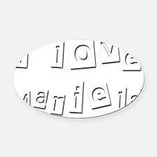 I Love Mariela Oval Car Magnet