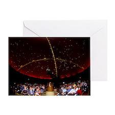 Inside of planetarium Greeting Card