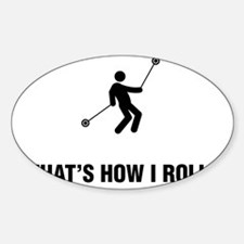Yoyo-Player-ABG1 Sticker (Oval)